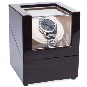 [New Version] CHIYODA Wood Handmade Single Watch Winder with Quiet Motor-8 Speed Modes
